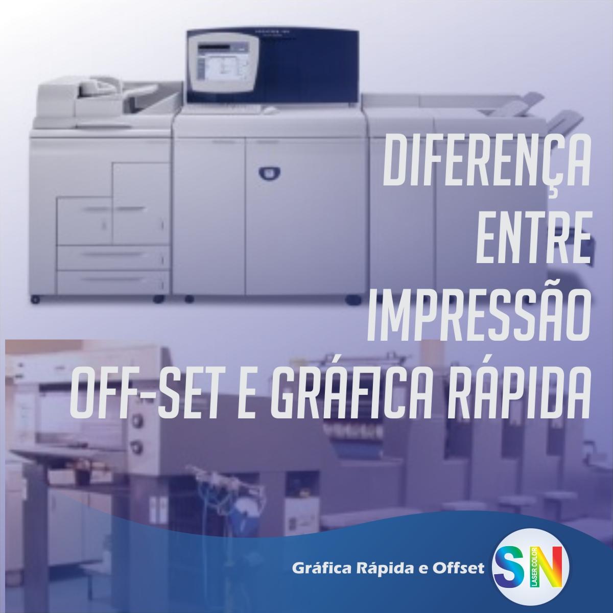 Diferença entre impressão off-set e gráfica rápida